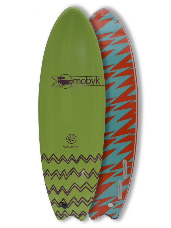 Mobyk surfboards 6´0 apple green