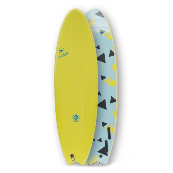 Mobyk surfboards 6´6 electric lemon