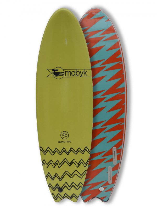 Mobyk surfboards 6´0 electric lemon