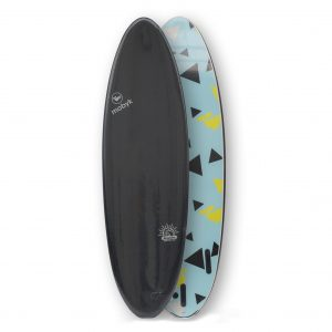 Mobyk surfboards 6´4 black