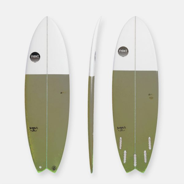 Next Surfboards DEAD FISH-verde militar